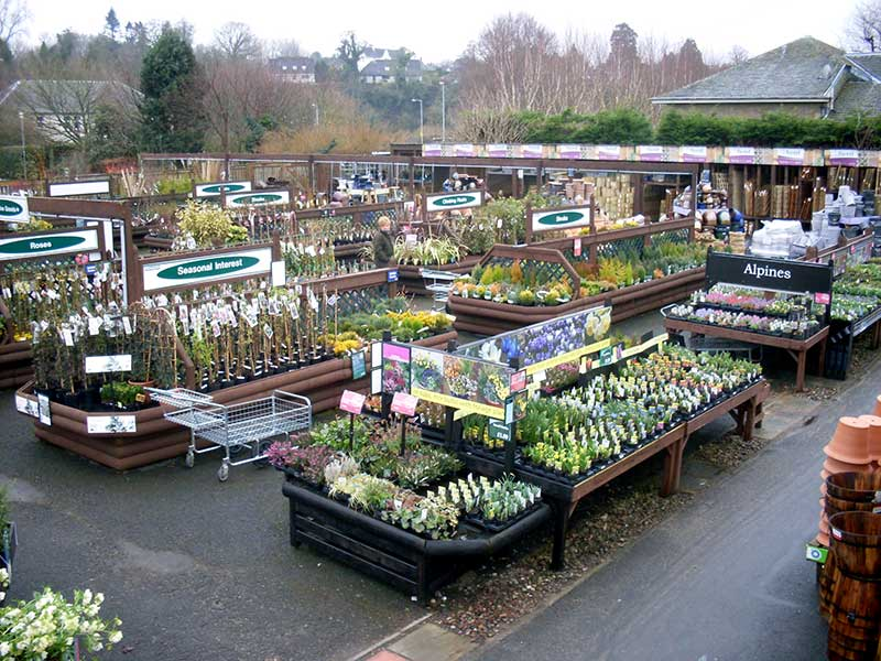Mayfield Garden Centre Visit Kelso Roxburghshire Scottish Borders Scotland