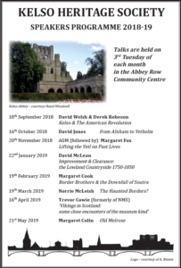 Kelso Heritage Society Speakers Programme